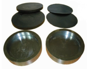 Cylindrical Specimen Caps and Rubber Pads's image'